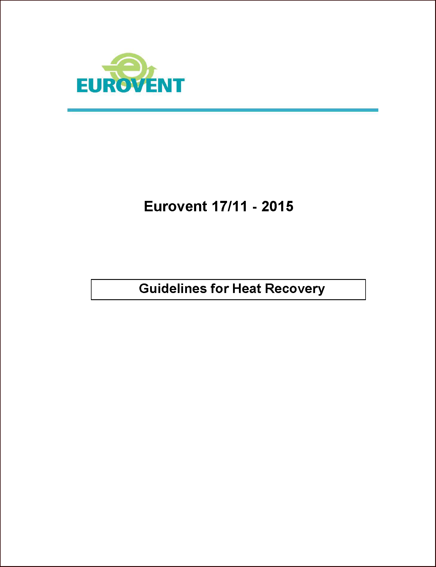 2015 - Guidelines for Heat Recovery