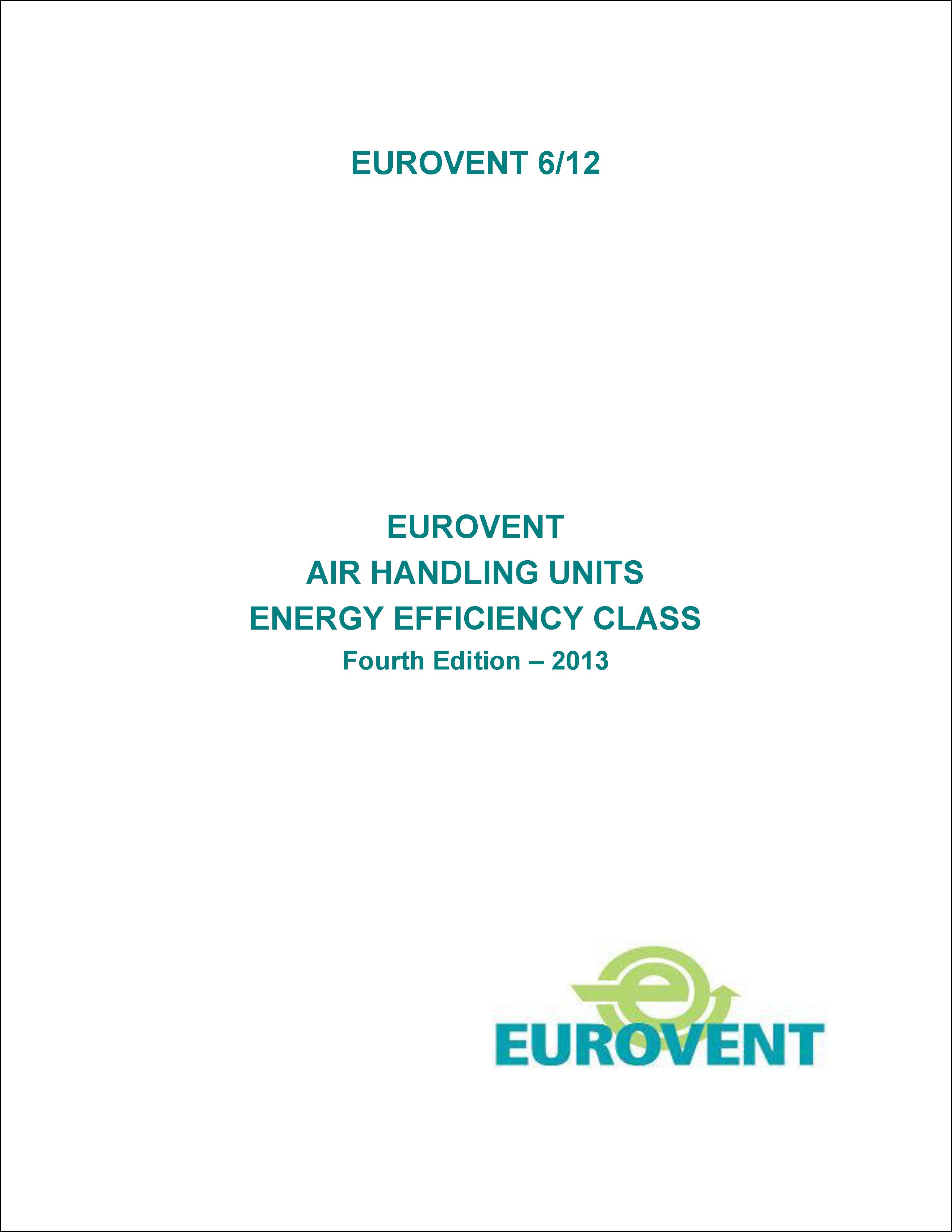 2013 - Eurovent air handling units energy efficiency class