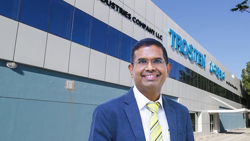 S.P. Sarangan, General Manager of Trosten Industries
