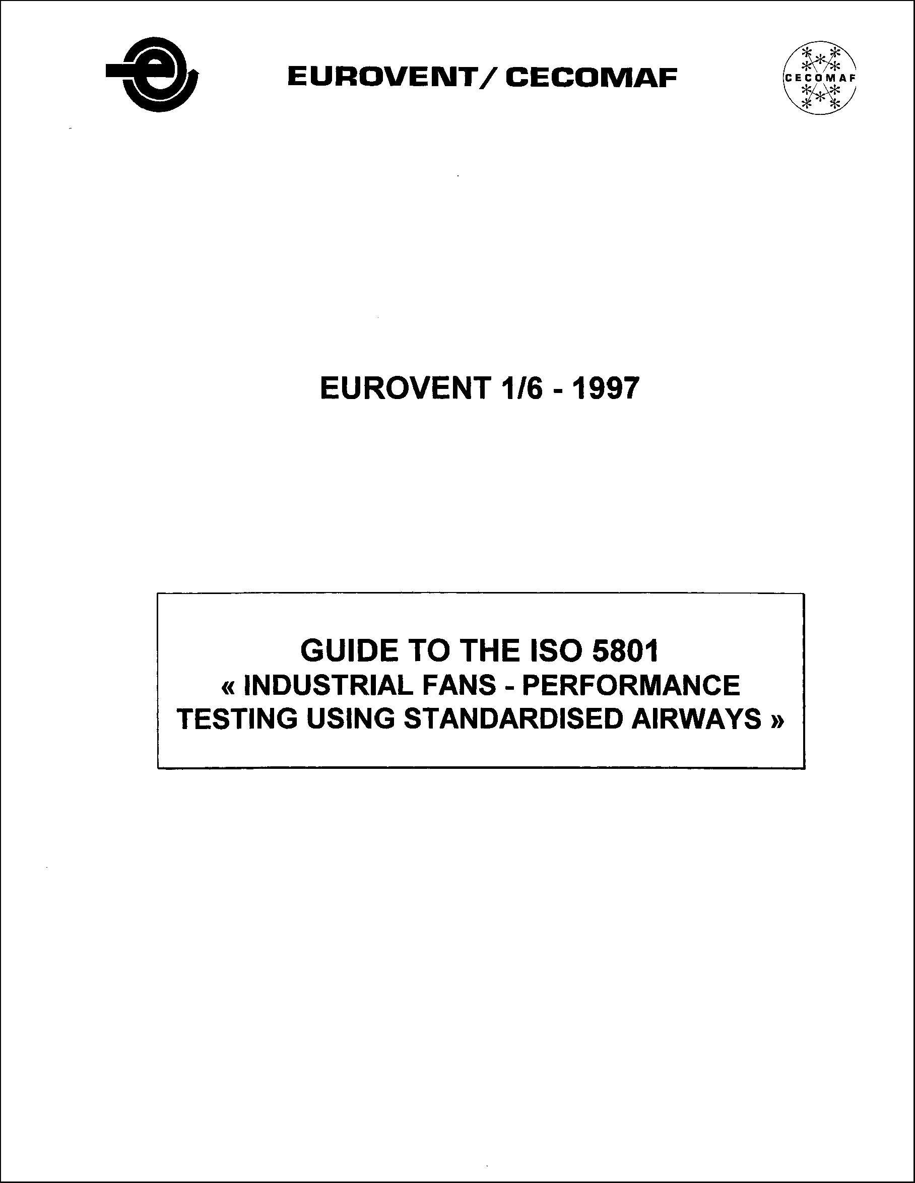 1997 - Guide to the ISO 5801