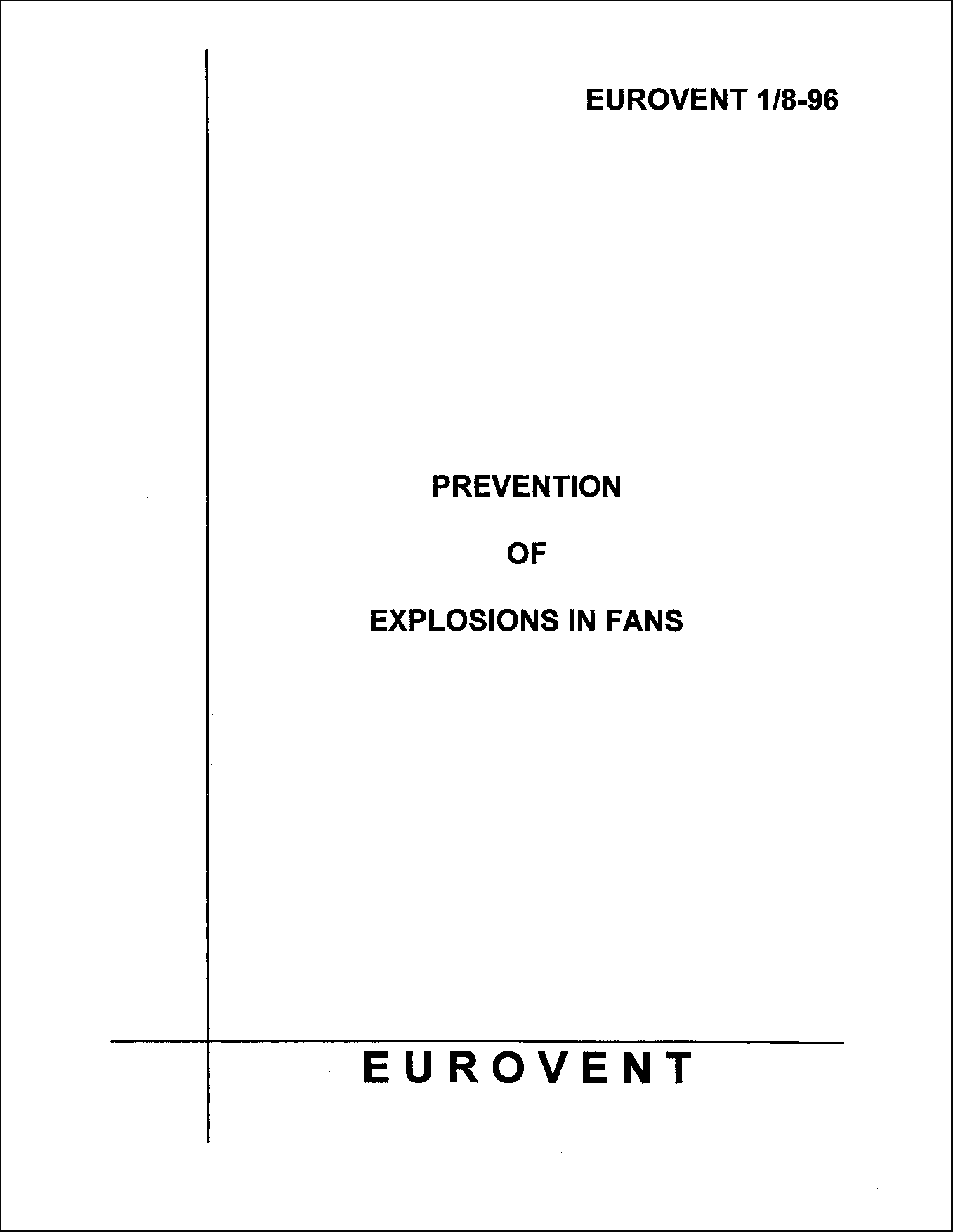 1996 - Prevention of explosions in fans