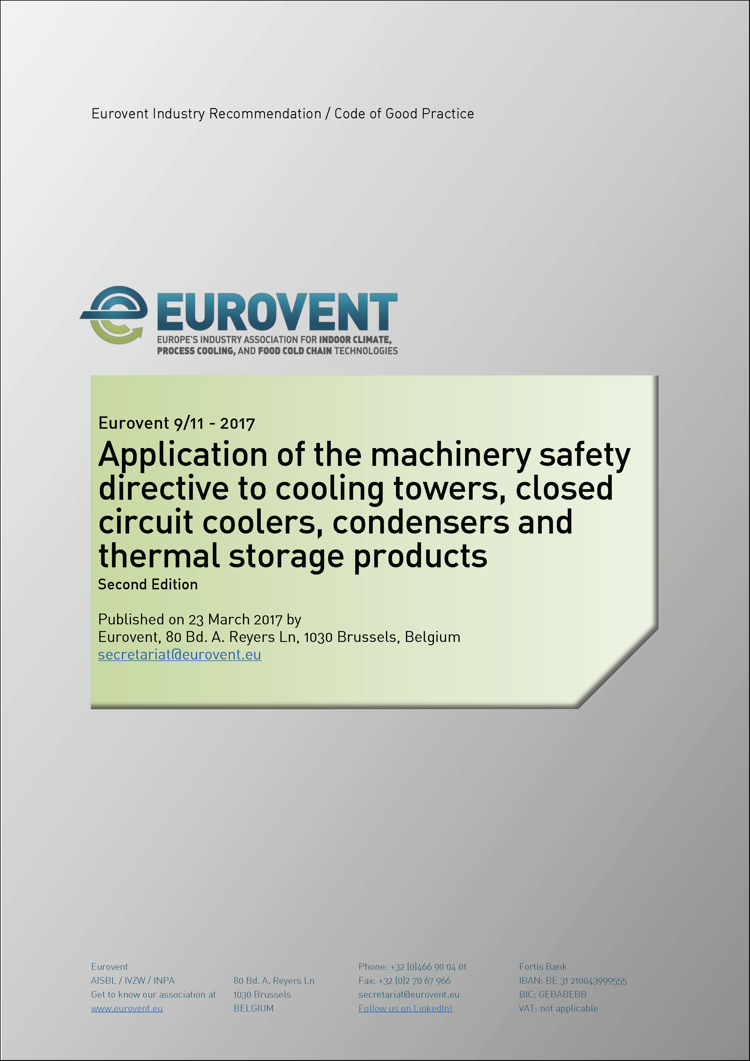 2017 - Application of the machinery safety directive