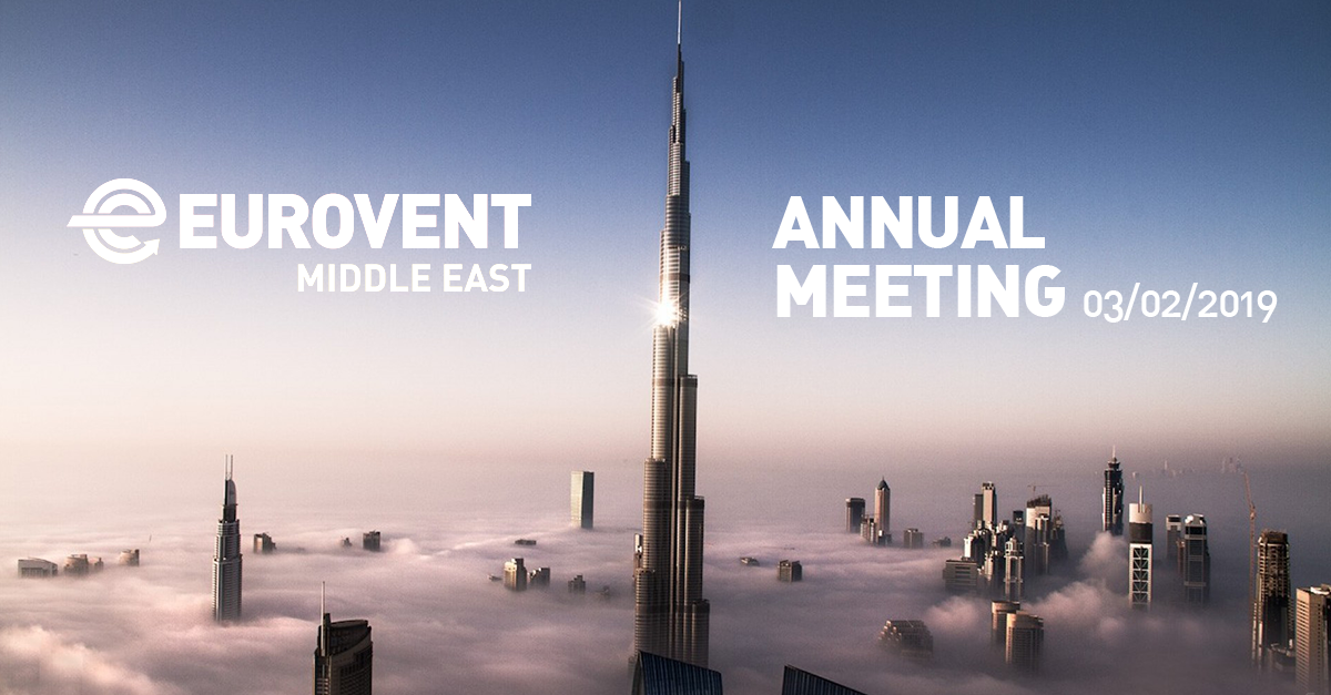 2019 - Eurovent Middle East Annual Meeting