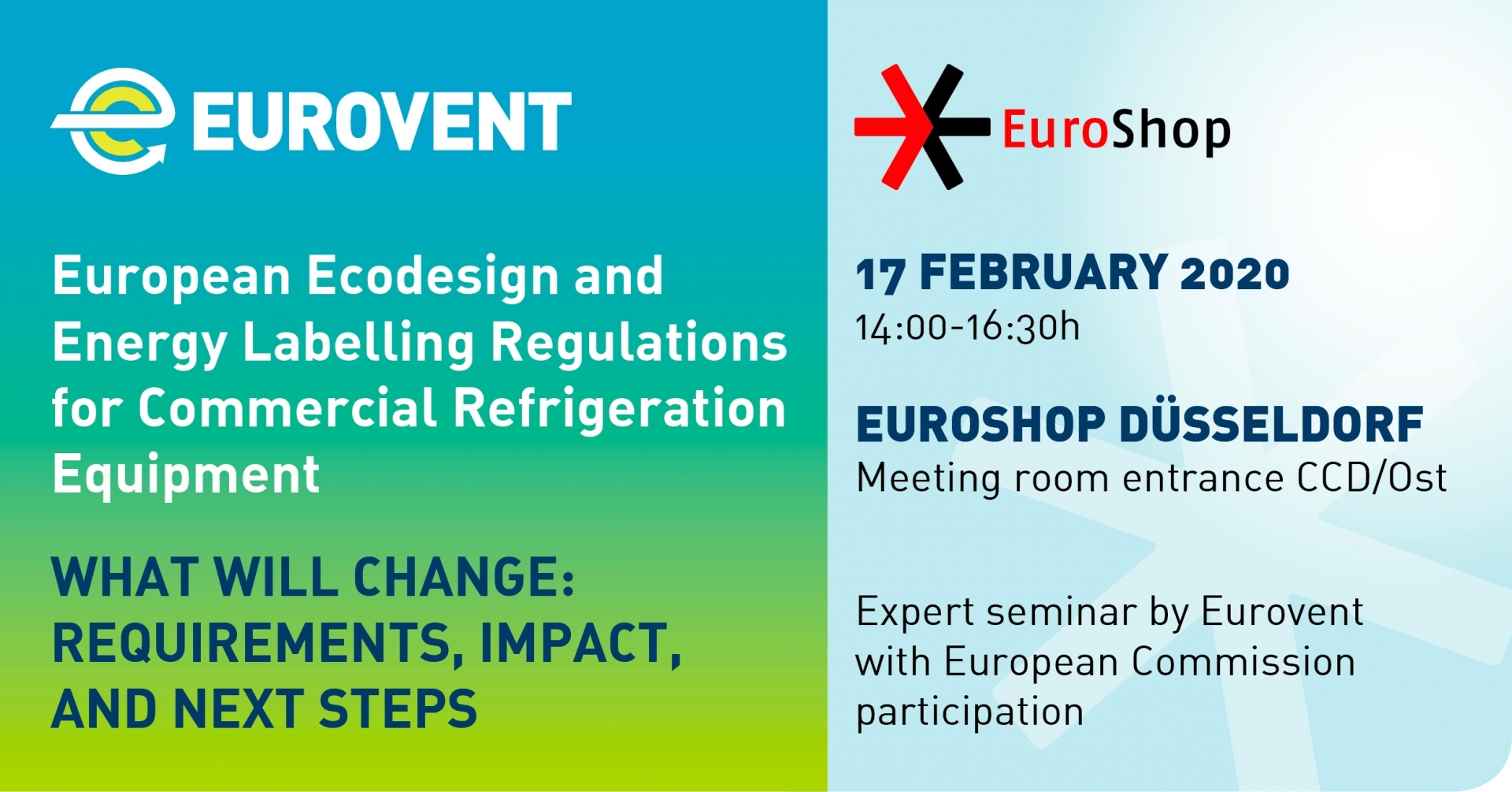 2020 - Eurovent to host expert seminar at EuroShop 2020
