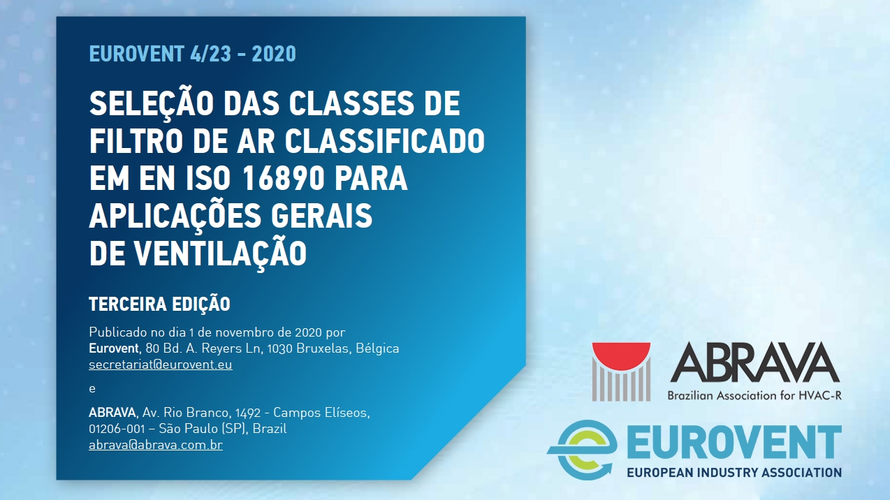 2021 - Eurovent and ABRAVA publish Brazilian version of Eurovent Recommendation 4/23