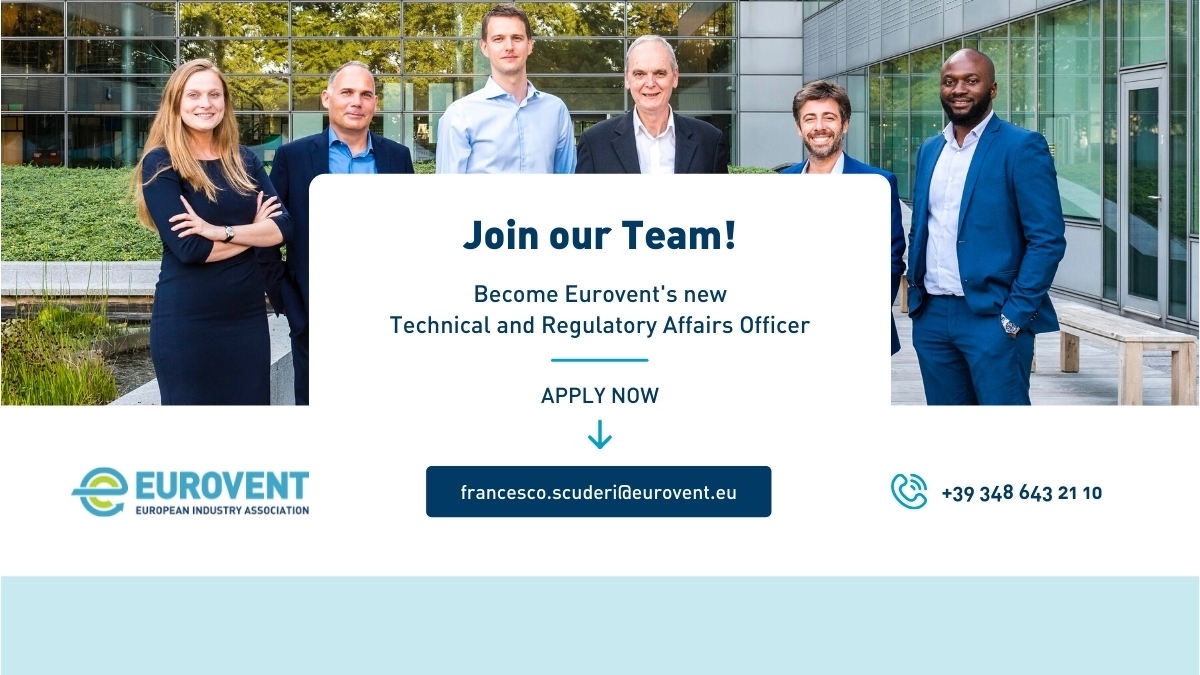 Job opportunity: Technical and Regulatory Affairs Officer